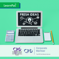 Developing Creativity - Online Training Course - CPD Accredited - LearnPac Systems UK -