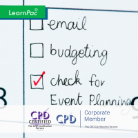 Event Planning - Online Training Course - CPD Accredited - LearnPac Systems UK -