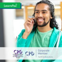 Handling a Difficult Customer - Online Training Course - CPD Accredited - LearnPac Systems UK -