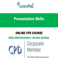 Presentation Skills - Online CPD Course - LearnPac Online Training Courses UK -