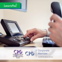 Telephone Etiquette - Online Training Course - CPDUK Accredited - LearnPac Systems UK -