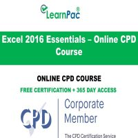 Excel 2016 Essentials – Online CPD Course - Online CPD Course - LearnPac Online Training Courses UK -