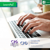 Excel 2016 Essentials - Online Training Course - CPD Accredited - LearnPac Systems UK -