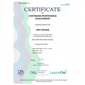 Excel 2016 Essentials - Online Training Course - CPD Certified - LearnPac Systems UK -