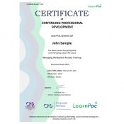 Managing Workplace Anxiety Training - Online Training Course - CPD Certified - LearnPac Systems UK -