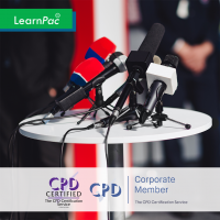 Media and Public Relations - Online Training Course - CPD Accredited - LearnPac Systems UK -