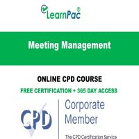 Meeting Management - Online CPD Course - LearnPac Online Training Courses UK -