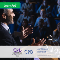 Public Speaking - Online Training Course - CPD Accredited - LearnPac Systems UK -