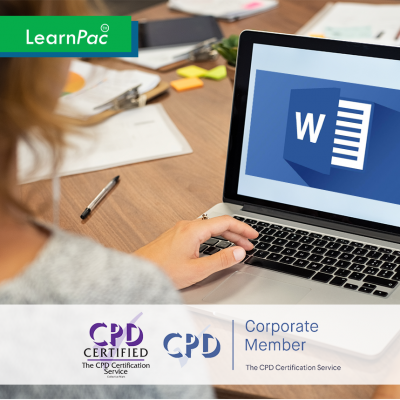 Word 2016 Expert - Online Training Course - CPD Accredited - LearnPac Systems UK -