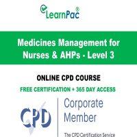 Medicines Management for Nurses & AHPs - Level 3 - Online CPD Training Course -