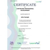 Professional Chaperone Training - Online Training Course - CPD Certified - LearnPac Systems UK -