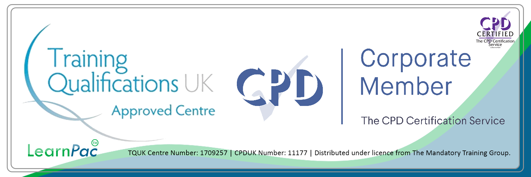 TQUK Banner - CPDUK Accredited - Learnpac System UK -