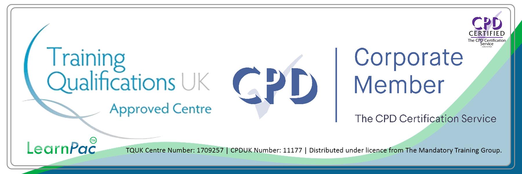 TQUK Banner - CPDUK Accredited - Learnpac System UK -