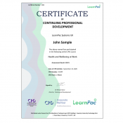 Health and Wellbeing at Work - E-Learning Course - CDPUK Accredited - LearnPac Systems -