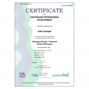 Managing Change - Enhanced Dental CPD Course - E-Learning Course - CDPUK Accredited - LearnPac Systems -