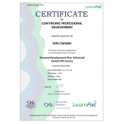 Personal Development Plan - Enhanced Dental CPD Course - E-Learning Course - The Mandatory Training Group UK -