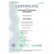 Personal Development Plan - Online Training Course - CPD Certified - LearnPac Systems UK -