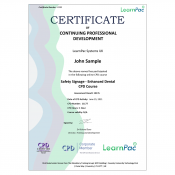 Safety Signage - Enhanced Dental CPD Course - E-Learning Course - CDPUK Accredited - LearnPac Systems -