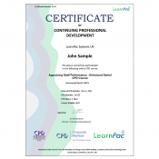 Appraising Staff Performance – Enhanced Dental CPD Course - CPDUK Accrediterd - Learnpac Systems UK -