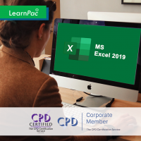 Mastering MS Excel 2019 – Online Training Course - CPD Accredited - LearnPac Systems UK -