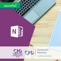 Mastering MS OneNote 2016 - Online Training Course - LearnPac Systems UK -