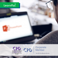 Mastering MS Powerpoint 2 - Online Training Course - CPD Accredited - LearnPac Systems -