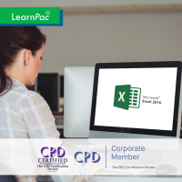 Mastering Microsoft Excel 2016 – Online Training Course - CPD Accredited - LearnPac Systems UK -