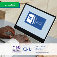 Mastering Word 2016 (Advanced) - Online Training Course - CPD Accredited - LearnPac Systems -
