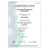 Recruitment - Enhanced Dental CPD Course - Online Training Course - CPD Certified - LearnPac Systems UK -