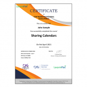 Sharing Calendars - E-Learning Course - CDPUK Accredited - LearnPac Systems -