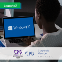 Using Windows 10 - Online Training Course - CPD Accredited - LearnPac Systems -