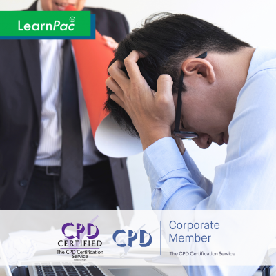 Workplace Harassment for Employees – Online Training Course - CPD Accredited - LearnPac Systems UK -