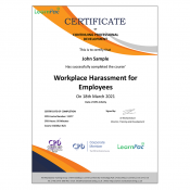 Workplace Harassment for Employees - Online Training Course - CPD Certified - LearnPac Systems UK -