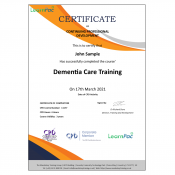 Dementia Care Training - E-Learning Course - CDPUK Accredited - LearnPac Systems -