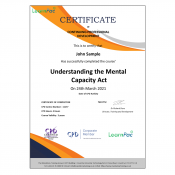 Understanding the Mental Capacity Act - E-Learning Course - CDPUK Accredited - LearnPac Systems -