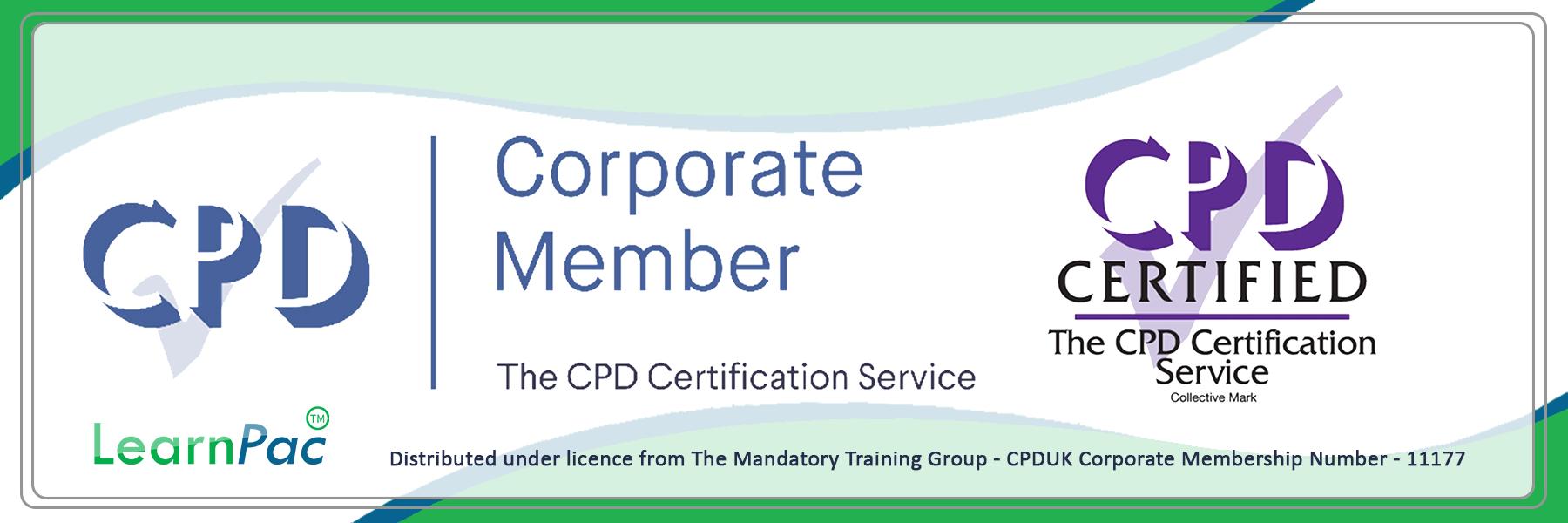 Care Certificate Standard 15 - CPDUK Certified - Learnpac System UK -