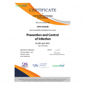 Prevention and Control of Infection - eLearning Course - CPD Certified - LearnPac Systems UK -