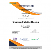 Understanding Eating Disorders - eLearning Course - CPD Certified - LearnPac Systems UK -