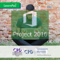 Mastering Microsoft Project 2016 - Part 2 - Online Training Course - CPD Accredited - LearnPac Systems -