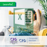 Mastering Microsoft Excel 2016 - Basics - Online Training Course - CPD Accredited - LearnPac Systems -