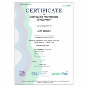Infection Prevention and Control - Train the Trainer Course + Trainer Pack - E-Learning Course - CDPUK Accredited - LearnPac Systems -