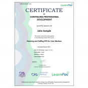 Donning and Doffing PPE for Care Workers - E-Learning Course - CDPUK Accredited - LearnPac Systems -