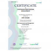 Falls Assessment and Management in Care Homes - Level 2 - eLearning Course - CPD Certified - LearnPac Systems UK -